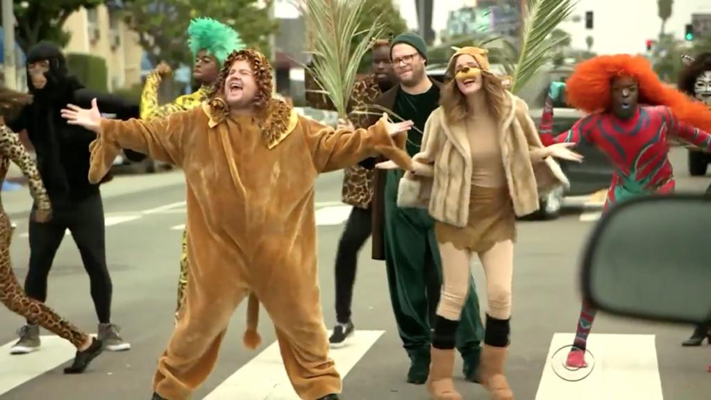 WI - James Corden - Lion King Crosswalk - 5/16