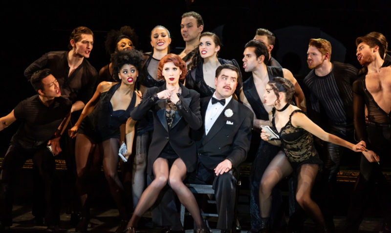 "Scene from CHICAGO Roxie Hart and Billy Flynn performing ""We Both Reached for the Gun"""